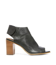 53e864018210 Mule Shoes in Black Leather