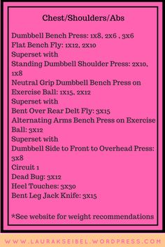 Chest + Shoulder + Abs Workout