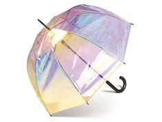 Happy Rain Transparent Shiny průhledný lesklý duhový deštník - Značkové deštníky Rain, Happy, Design, Rain Fall, Design Comics