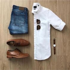 Men Casual Shirt Outfit 🖤 Very Attractive Casual Outfit Grid, Trend Fashion, Mens Fashion Blog, Fashion Mode, Fashion Basics, Guy Fashion, Fashion Shirts, Fashion Menswear, Lifestyle Fashion, Fashion Fall