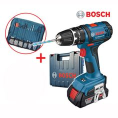 Bosch-Full-Set-Bosch-GSB-18-2-LI-18V-Li-Ion-Cordless-Drill-Tool-Battery-Charger bosch #power #tool #drill #codeless #charger #drive #wood #steel #new #korea #gsb18-2-li