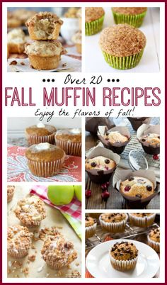 Fall Muffin Recipes - enjoy the flavors of fall with over 20 fall muffin recipes! From Browned Butter Apple Pie Muffins to Pumpkin with Chocolate Chips, you don't want to miss this list of the best fall muffin recipes!