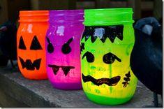 Mason Jar Halloween Votives