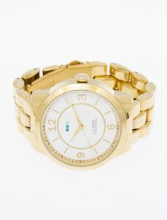 La Mer Collections Gold Tuscany Linked Watch