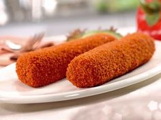 kroketten - Crocquettes. Either with veal, beef or pork filling and then deep fried.