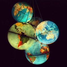 The absolute best thing I have ever seen as a light  - luminated world globes!