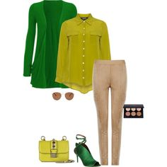 Warm spring's green is a bright warm green. I paired it with chartreuse and a warm beige. All warm and perfect for a warm spring.  Pairing this green with a light purplewould also look amazing.  Have fun and wear what you love!  Jen Thoden Download your Warm SpringColor Wheel Today