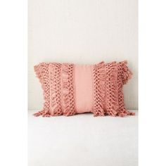 Venice Net Tassel Bolster Pillow (63 CAD) ❤ liked on Polyvore featuring home, home decor, throw pillows, rose, inspirational throw pillows, inspirational home decor, tassels home decor, urban outfitters and rose throw pillow