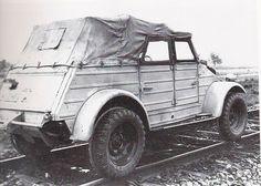 VW Kubelwagen on the rails