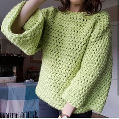 The Green Eyed Monster Jumper Pattern Crochet pattern by Crafty Clarence Basic Crochet Stitches, Crochet Basics, Crochet Patterns, Crochet Cardigan, Knit Crochet, Crochet Tops, Basket Weave Crochet, Green Eyed Monster, Jumper Patterns