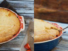 Strawberry-Rhubarb Pudding Cake - Foodess
