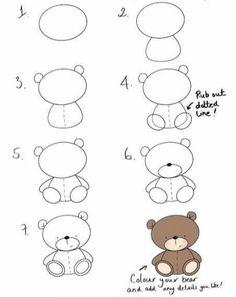 Easy Doodles Drawings, Easy Doodle Art, Easy Drawings For Kids, Simple Doodles, Cute Doodles, Simple Cute Drawings, Basic Drawing For Kids, Bird Doodle, Colorful Drawings