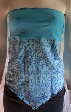 Blue Bliss Organic Tie Top Medium by KreativeMindz on Etsy, $25.00