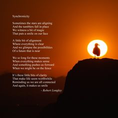 Synchronicity is an inspirational poem about those times when the universe surprises us with something Inspirational Poems, Poetry Books, Universe, In This Moment, Times, Shit Happens, Face, Cosmos, The Face