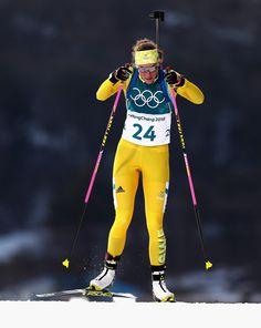 Hanna Oeberg of Sweden competes during the Women's Individual Biathlon at Alpensia Biathlon Centre on February 2018 in Pyeongchang-gun, South Korea. Celebrity Photos, Celebrity News, February 15, South Korea, Sweden, Skiing, Pop Culture, Gun, Centre