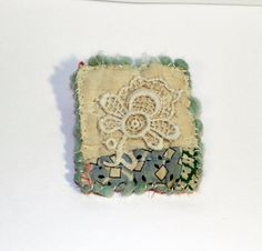 Hey, I found this really awesome Etsy listing at https://www.etsy.com/listing/287936223/unique-quilt-brooch-vintage-quilt-lace
