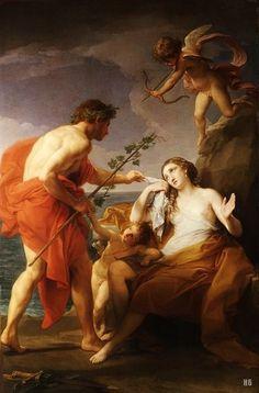 Bacchus and Ariadne. 1769-74. Pompeo Batoni. Italian. 1708-1787. oil on canvas. http://hadrian6.tumblr.com