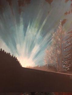 #acrylic #art #polarnight #headlights #darkness Polar Night, Acrylic Art, Darkness, My Arts, Painting, Painting Art, Paintings, Painted Canvas, Drawings