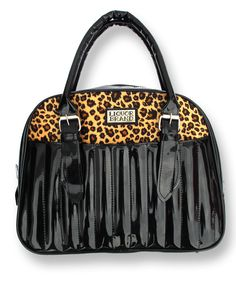 Liquor Brand Damen Handtasche Leo Black.Tattoo,Pin up,Oldschool,Rockabilly Style