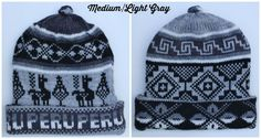 Gray color Reversible HatsFair Isle by MyPeruvianTreasures on Etsy