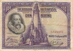 Cervantes. 100 pesetas