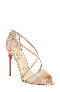 spike sneaker christian louboutin - TROTTI VEAU VELOURS/CALF, COLOMBE/GREZZO, Fishnet, Women Shoes ...