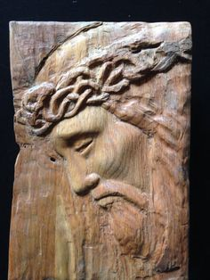 Hey, I found this really awesome Etsy listing at https://www.etsy.com/listing/217728832/jesus-relief-wood-carving