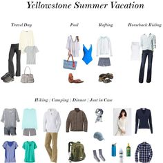 """Yellowstone Summer Vacation"" by htharri on Polyvore"