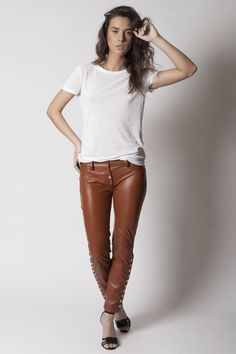 Calixa genuine leather pants by AlchimieClothing on Etsy