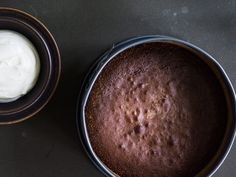 """Magnus Nilsson's Swedish """"Gooey"""" Chocolate Cake (Kladdakaka): Similar to a fudgy American brownie, this cake is delicious served chilled or piping hot from the pan with a scoop of ice cream. 