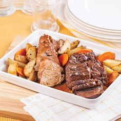 Rôtis de porc et de boeuf - Recettes - Cuisine et nutrition - Québécoise traditionnelle - Pratico Pratiques