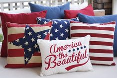 Summer is always the time when we feel extra patriotic! Plus, #starsandstripes and #redwhiteandblue are very stylish, both indoors and outdoors. Click the link in our profile to discover our entire Patriotic Collection, including #accentpillows and more. #myKirklands #Americathebeautiful