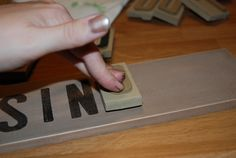 Making Country Signs Using Foam Stamps   Eyeballs By Day, Crafts By Night