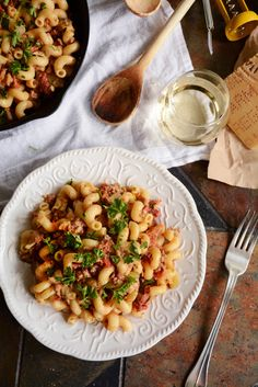 Weeknight Pantry Pasta with Crumbled Sausage, Sundried Tomatoes & Artichoke Hearts