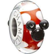 Chamilia Disney Minnie Mouse Murano Glass Bead