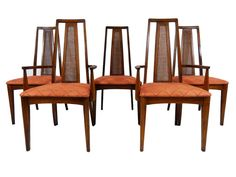 Mid Century Modern Broyhill Emphasis Dining Chairs (Five/5) Vintage Retro