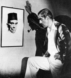 gameraboy:  Boris Karloff looking at a portrait of himself from...