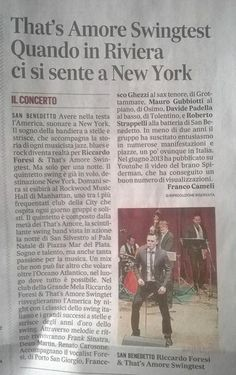 On the newspaper before going to NYC