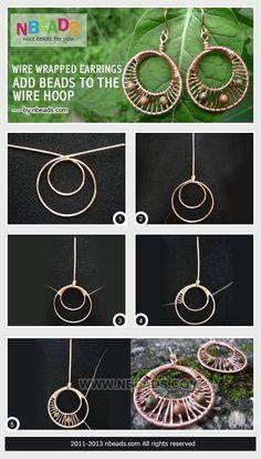 Wire Wrapped Earrings by EchoLin161286296 | Jewelry Ideas