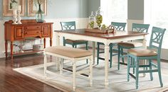 picture of Cindy Crawford Home Ocean Grove White 5 Pc Counter Height Dining Room from  Furniture