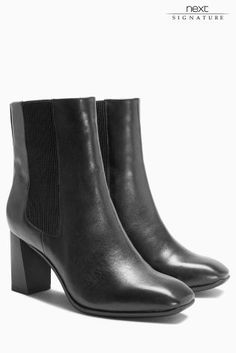 Buy Zip Block Heel Ankle Boots online today at Next Direct: Malta ...