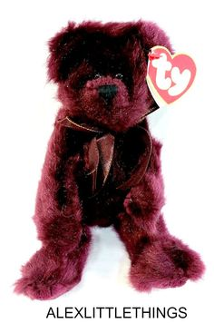 1993 Ty Beanie Baby Beargundy Attic Treasures Jointed Retired With Tags  Collectible Toy Burgundy Bear FREE SHIPPING 42cb5f215f54