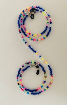 Necklace for your glasses. Handmade in bright colors. Special model Necklace for your glasses. Crafted in bright colors. Jewelry Making Beads, Cute Jewelry, Bracelet Making, Jewelry Crafts, Beaded Earrings, Beaded Jewelry, Beaded Bracelets, Jewelry Organizer Wall, Bohemian Bracelets