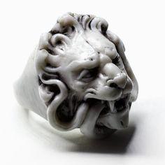 WHITE LION RING