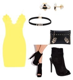 """#StopLightParty #Yellow #Mingling #CaliEvents"" by sweeetestgirl on Polyvore featuring Boohoo and Wild Diva"