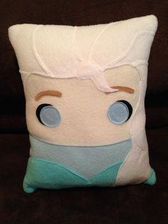 Frozen pillow Anna and Elsa frozen pillow plush by telahmarie