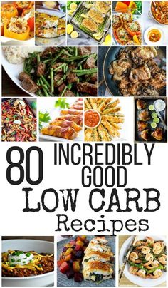 80 Low Carb Recipes to help you start the New Year Right - Low Carb 80 Incredibly good Low Carb Recipes Keto Foods, Best Diet Foods, High Protein Low Carb, Low Carb Lunch, Low Carb Diet, Low Carb Meal Plan, Best Low Carb Recipes, Diet Recipes, Healthy Recipes