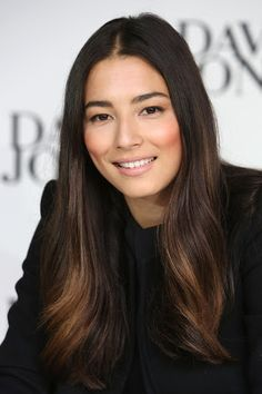 Jessica Gomes  1/2 Portuguese 1/2 Chinese  Australian Born  Makeup beauty hair Very light balayage