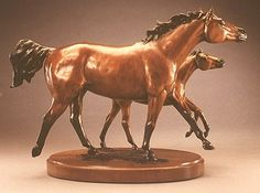 bronze equine sculpture by Dawn Weimer