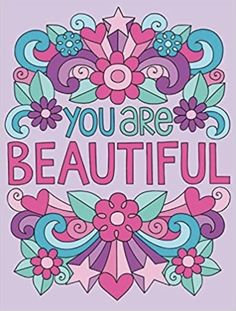 You are Beautiful Notebook Doodles, Free Notebook, Doodle Coloring, Coloring Books, Flower Doodles, Fox Design, Bright Flowers, Books To Read Online, You Are Beautiful